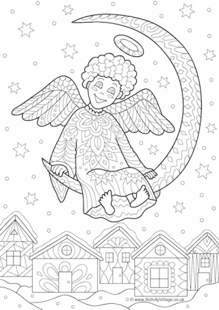 Christmas Colouring Pages For Older Kids And Adults