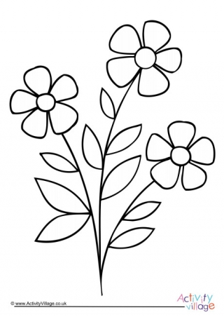 Flower Colouring Pages