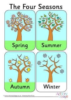 Seasons also seasonal activities for kids rh activityvillage