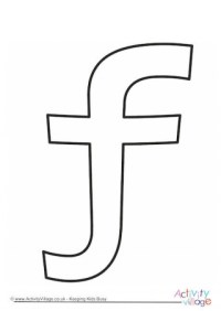 Letter F Lacing Card