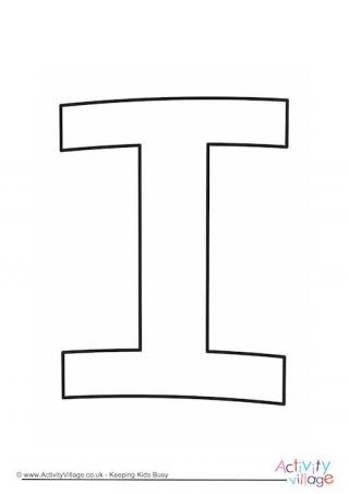 Outline Alphabet I