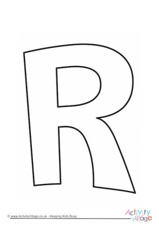 Letter r template printable textpoems letter r printables spiritdancerdesigns Image collections