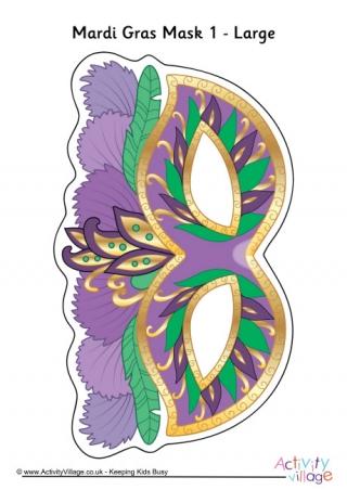 Mardi Gras Mask Printables