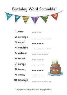 Birthday Puzzles