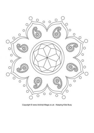 rangoli coloring pages # 12