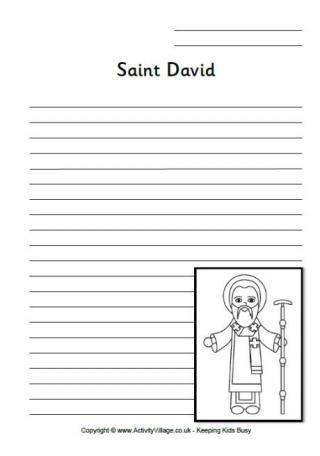 Saint David Writing Pages