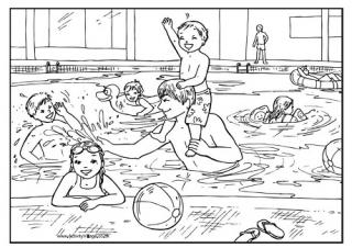 Swimming Pool Coloring Pages Arenda Stroy