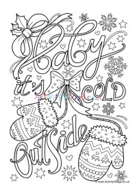 Baby It's Cold Outside Colouring Page
