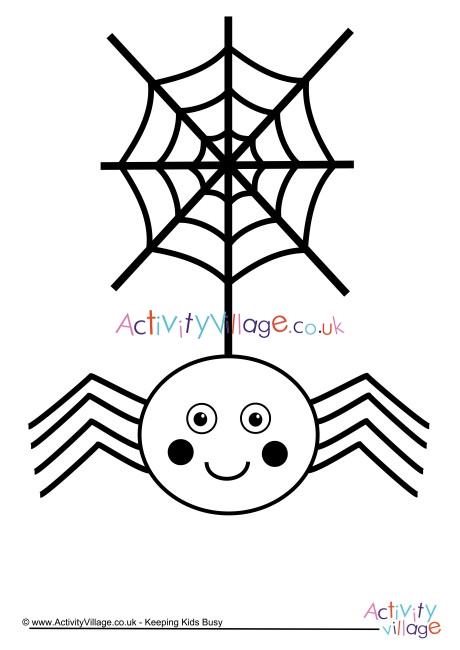 spider web coloring page # 55