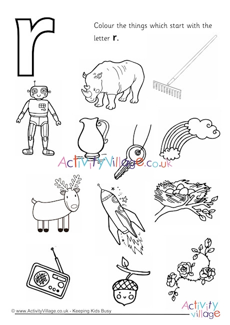 letter r coloring page # 9