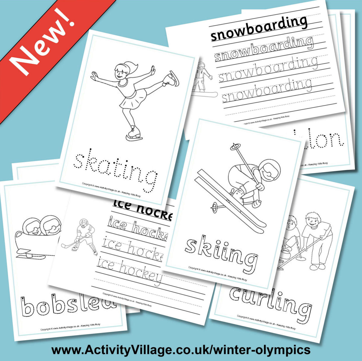 New Handwriting Worksheets For The Winter Olympics