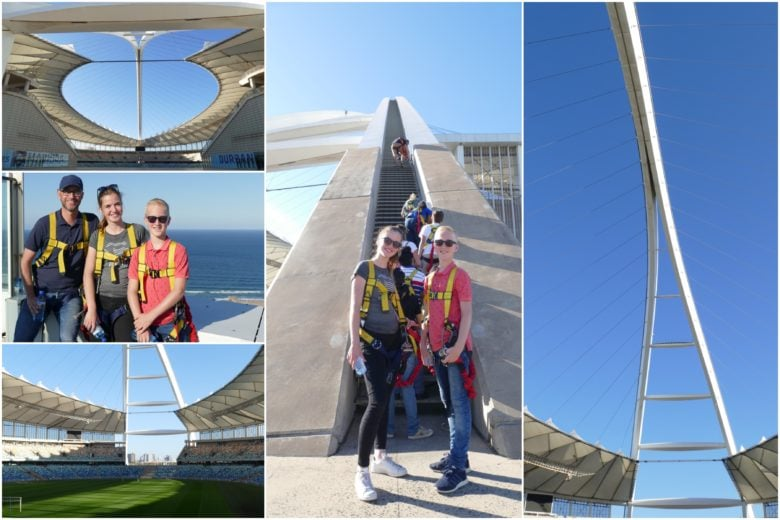 Climbing Durban stadium