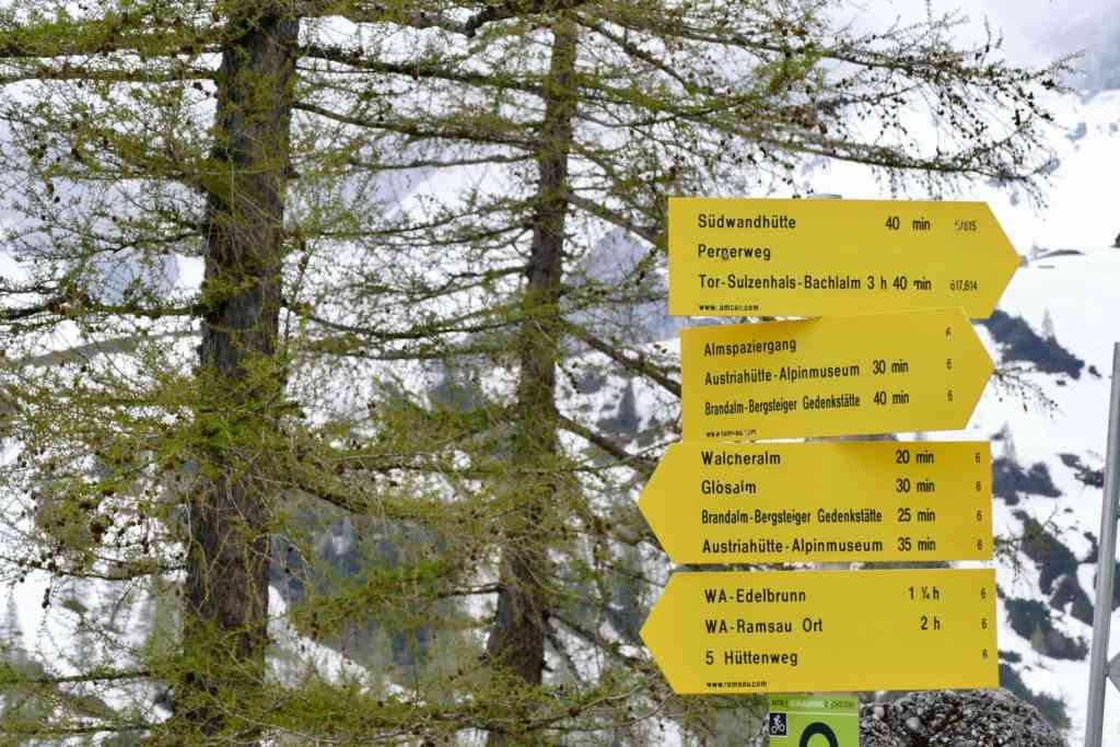 Hiking sign Austria