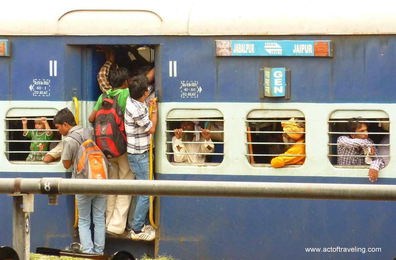 Volle trein India