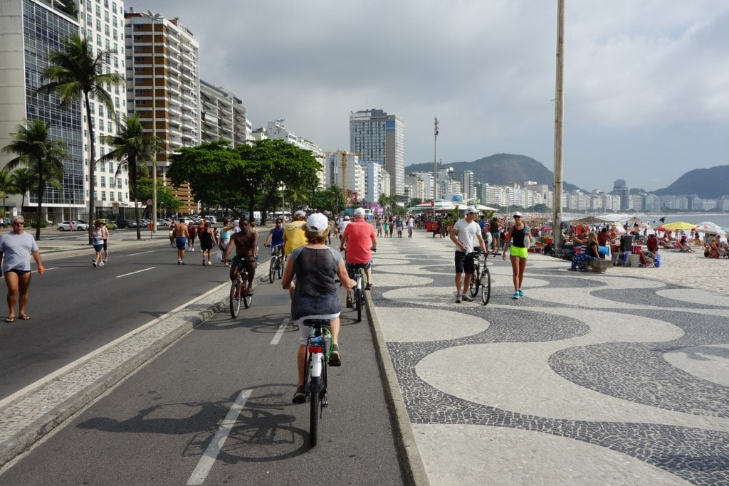 Biking Copacabana