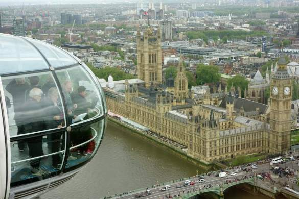 Picture Westminster from London Eye