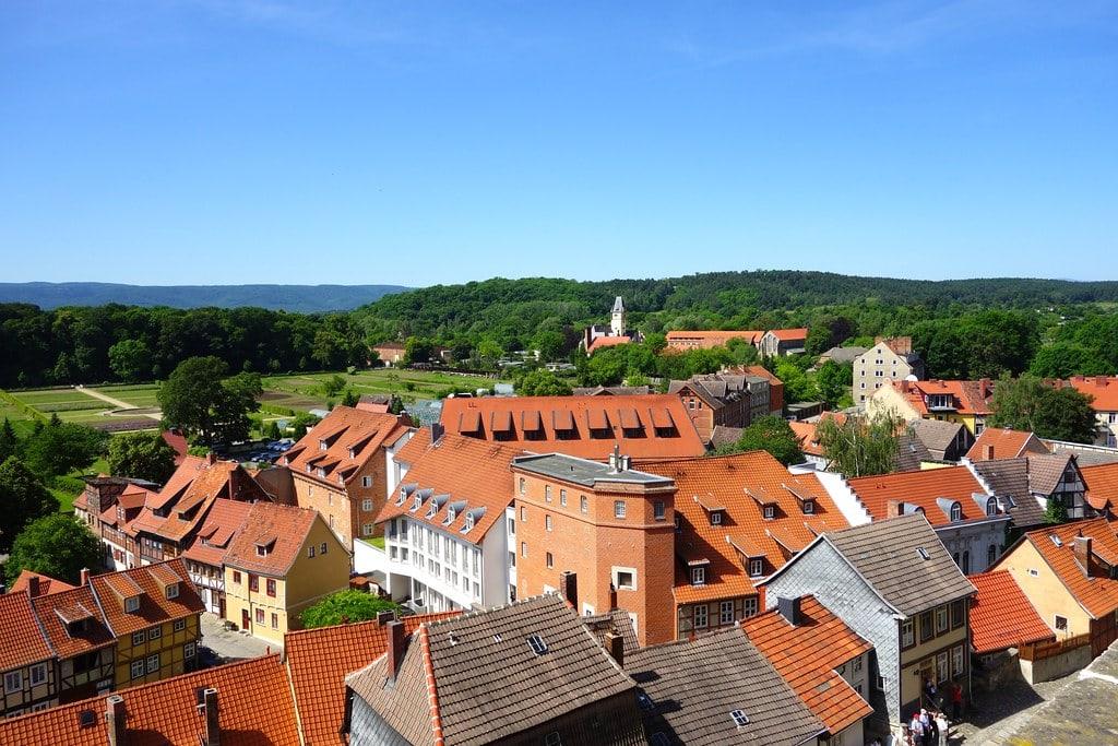 View from Servatius church Quedlinburg