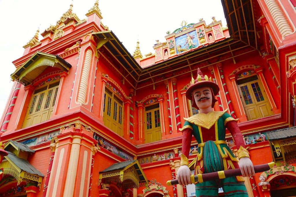 Colorful temple in Monywa