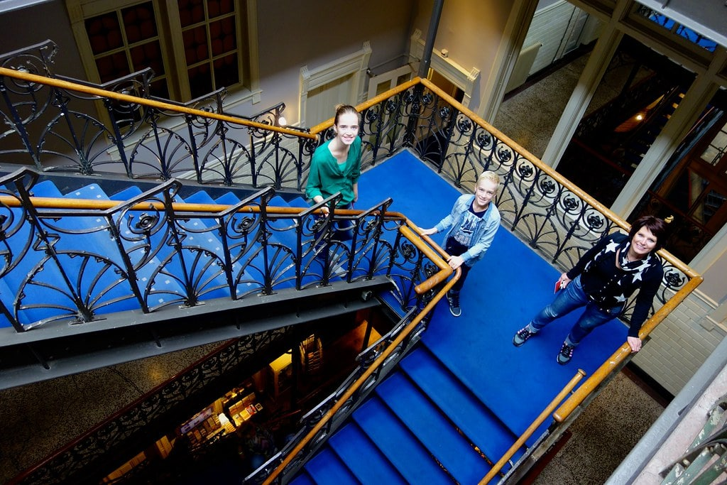 On the historic staircase Hotel New York