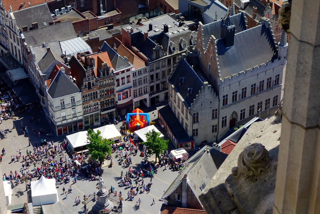 View on Mechelen from cathedral tower