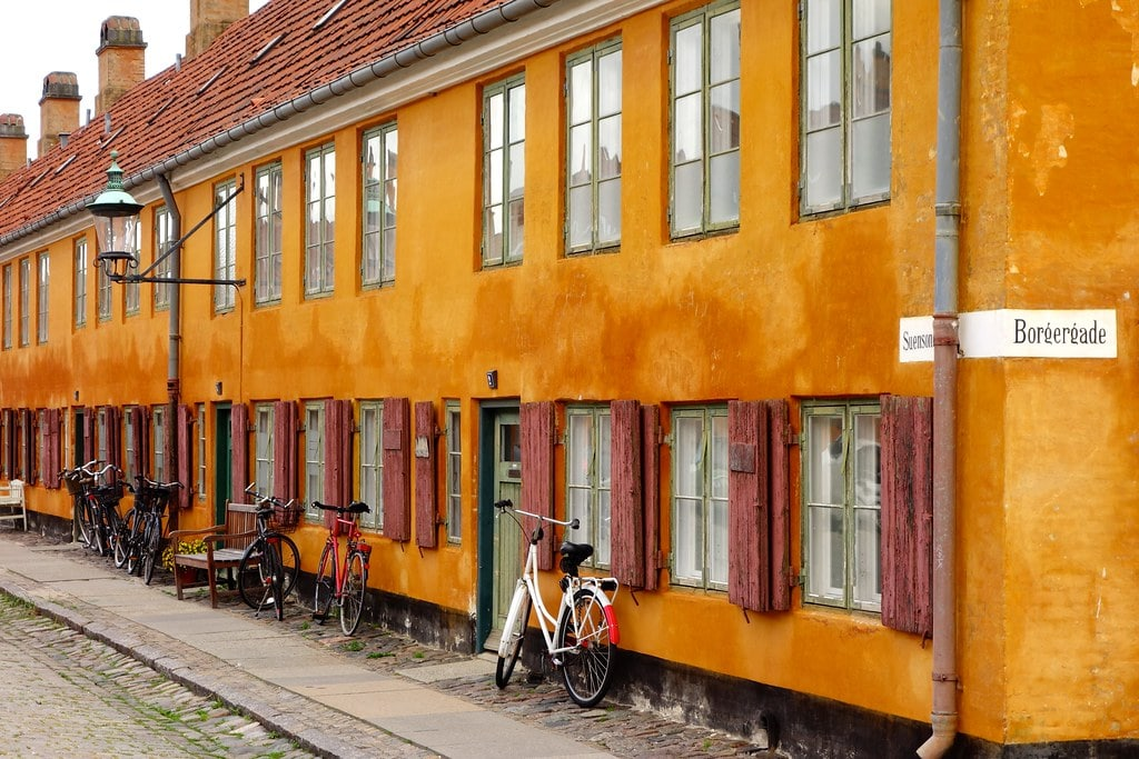 Yellow houses of Copenhagen
