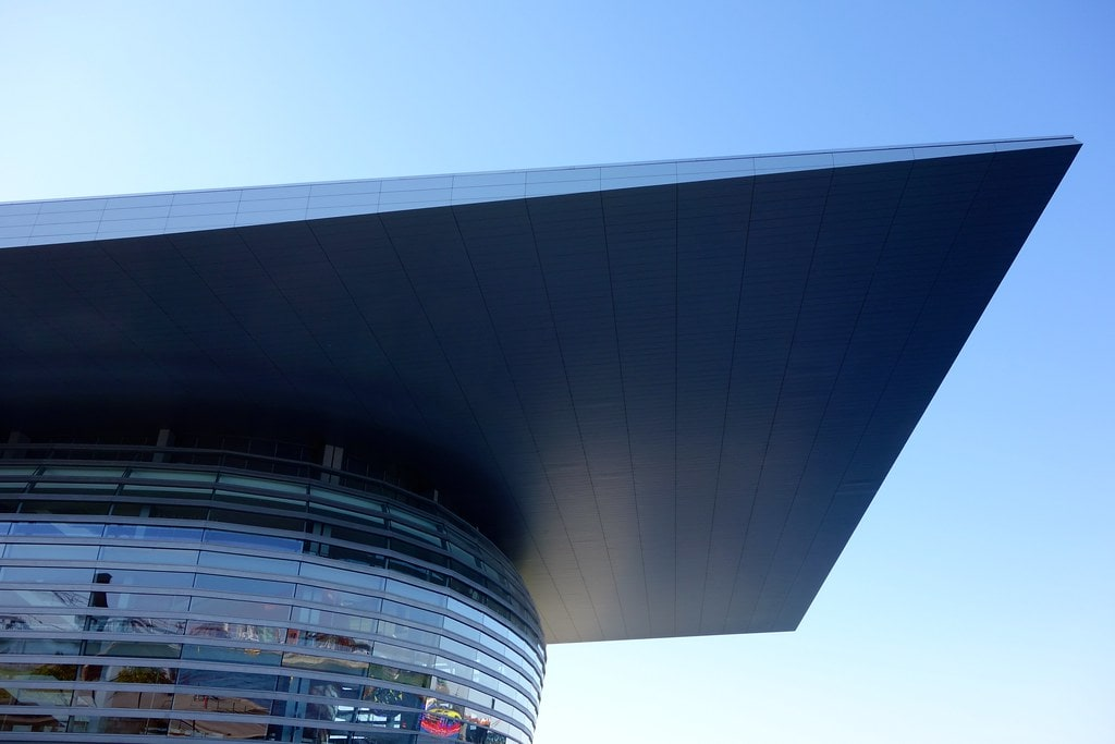 Huge roof on Opera Copenhagen