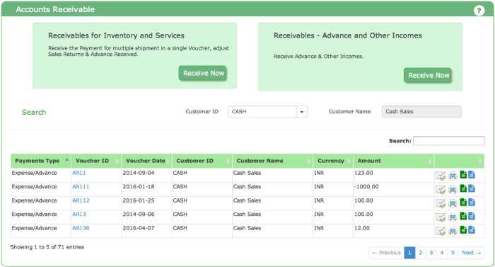 Receivables Dashboard