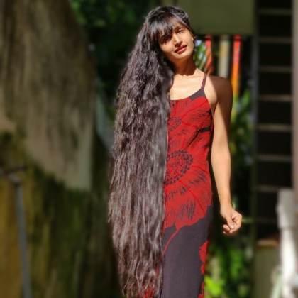 dimpal bhal hair-dimple bhal long hair