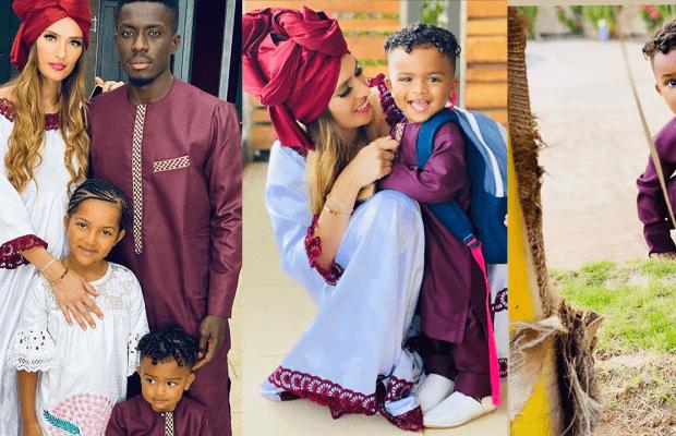 (5 Photos) korité d'Idrissa Gana Gueye au Sénégal avec sa petite famille