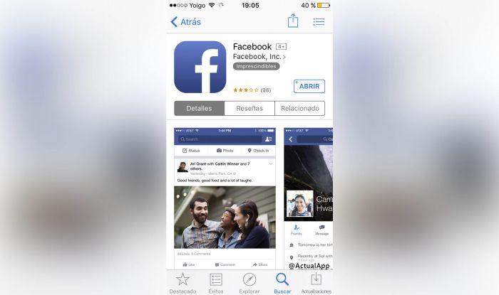 Descargar Facebook iOs