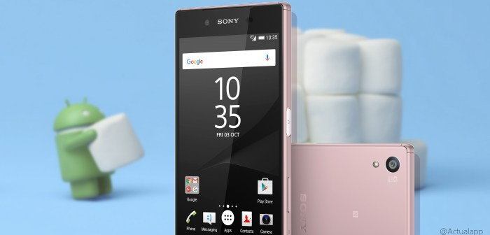 Sony Xperia Z5 se actualiza a Android 6.0 Marshmallow