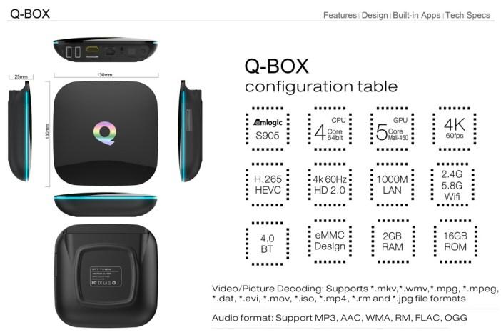 QBox table configuration