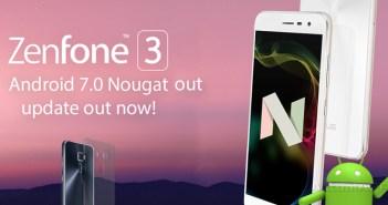 ASUS Zenfone 3 se actualiza a Android 7.0 Nougat