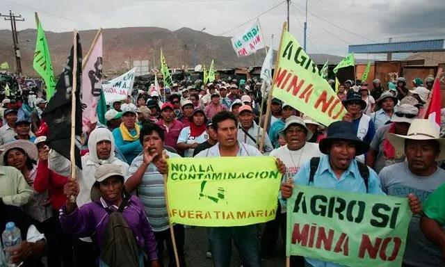 Protestas Tía María. Foto: La República