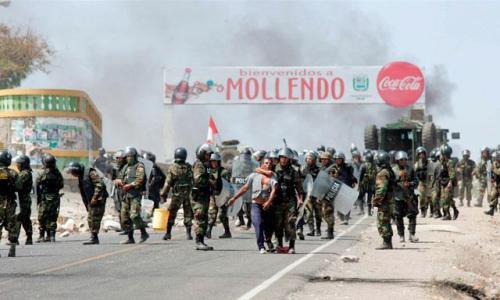Protestas por Tía María en Mollendo. Foto: La República