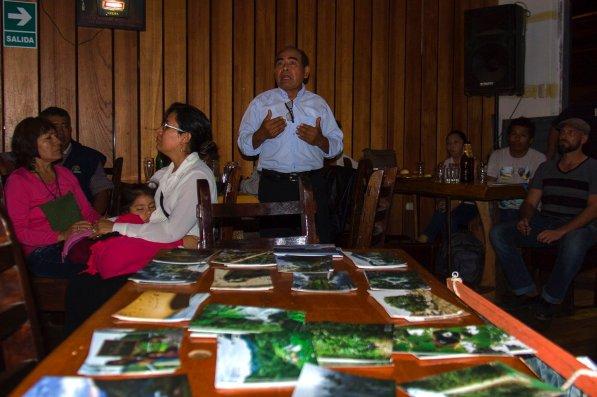 Edgar Isuiza, del ACP Bahuaja. Ruta al Tambopata