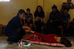 Las señoras de Cocachimba compartieron sus saberes ancestrales para relajar y aliviar los males.