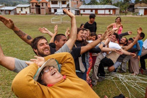 Confía y no caerás, fue lo que vivimos en los talleres del festival. Todos terminaron recargados de buena energía.
