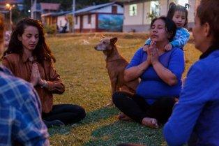 Al final del día, nos dimos un espacio para estar tranquilos y meditar, sintiendo la fuerza y paz de la catarata de Gocta.