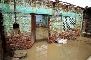 Muchos hogares quedaron totalmente abandonados porque ya eran inhabitables, como este en La Campiña (Catacaos).