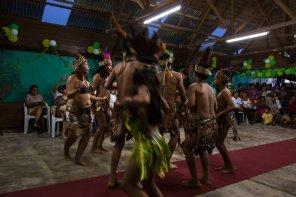 Las celebraciones por el aniversario incluyeron un concurso de danzas nativas.