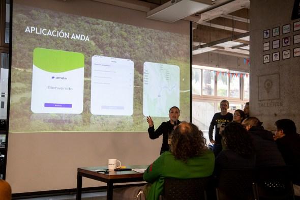 El equipo presentó la aplicación AMDA, un sistema de alerta de participación ciudadana. Foto: Jhonny Salazar / SPDA