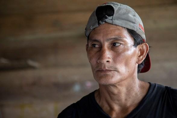 Roger Gatica es el jefe comunal de la comunidad nativa Centro Arenal.