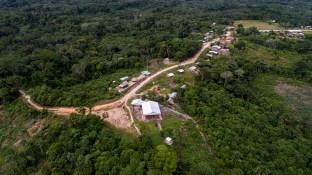 Zona invadida del territorio de la comunidad nativa Centro Arenal.