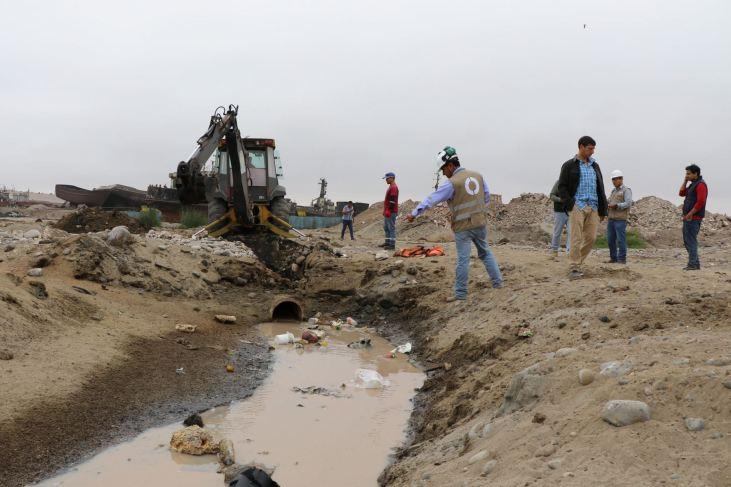 Clausuran tuberías que vertían residuos no autorizados al mar del Callao. Foto: Andina/Difusión