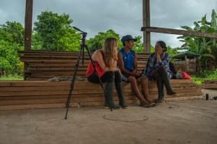 Juriko-Eilidh-Bethan-Equipo-entrevistas-voces-en-la-carretera-reserva-de-la-biosfera-del-manu