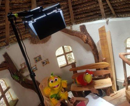 Huayo en su set de grabación. Foto: Amazon Forever Biopark