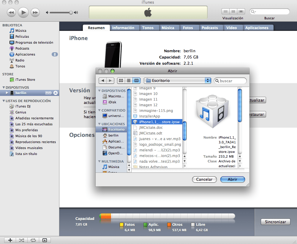 imagen 133 Tutorial – Jailbreak al iPhone 2G, 3G (no 3Gs), iPod 1G y 2G con el redsn0w