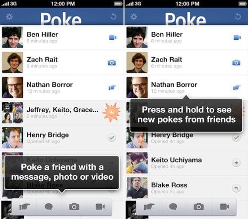 facebookpoke Facebook lanza la aplicación Facebook Poke para iPhone