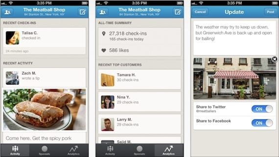 foursquare for business Foursquare for Business llega a la App Store